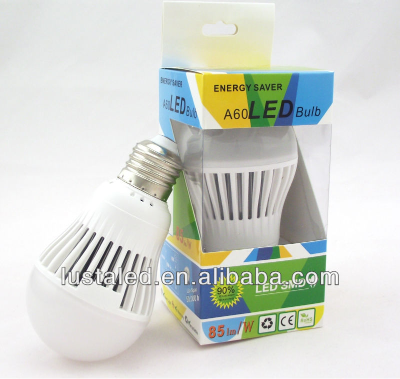 Cost Effective, Excellent Heat Dissipation, Flame Retardant Plastic, 3W LED Light Bulb E27