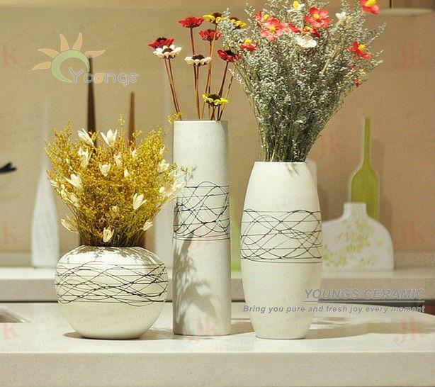 Casa decorativo pintado m o modernos vasos de flores de - Fotos jarrones con flores ...