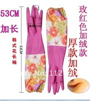 Хозяйственные перчатки long type warm household rubber gloves/laundry gloves/dish washing latex glove housewife necessary 10pairs/lot