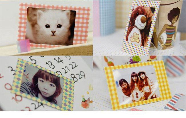 16set/lot  (20pcs/set), pola09 photo decoration sticker, pastel color 20pcs, photo sticker,sticer labe, (ss-1558)