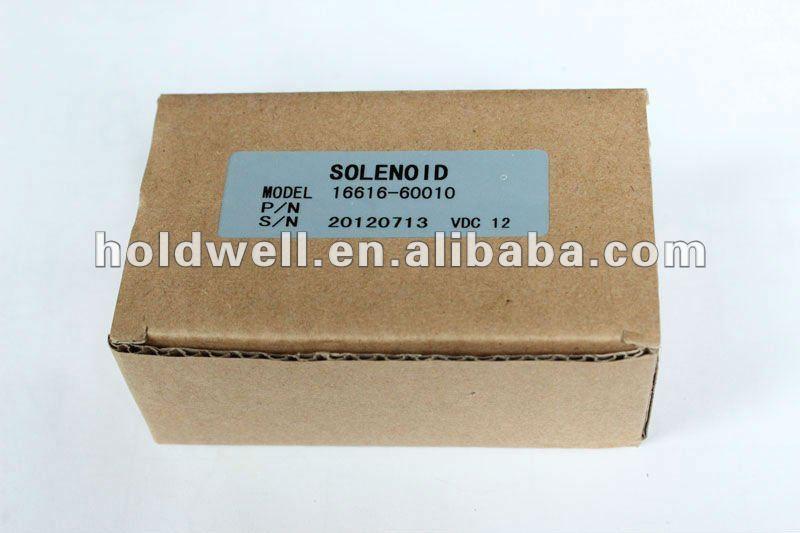 Kubota 16616-60010 stop solenoid