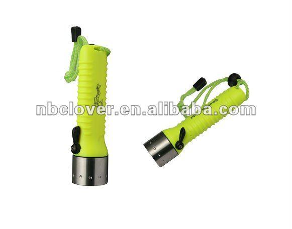 Cree Q5 green handle led diving flashlight