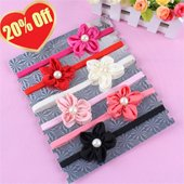 Free Shipping Triple Rose Baby Headbands Baby Girl Headbands With Rosette Flower Stain Ribbon Haeadband Mix HB062