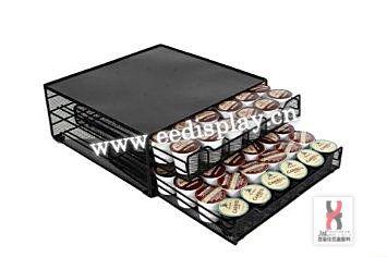 pratique m tal caf k capsules de tiroir de rangement cuisine dosettes de caf de tiroir. Black Bedroom Furniture Sets. Home Design Ideas