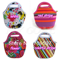 Сумка для путешествий Stripe Neoprene Travel Picnic Food Insulated Lunch Tote Bag Box Polka Dot Floral[000186