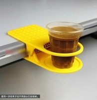 Cтакан для зубных щеток Office Table Desk Drink Coffee Cup Holder Clip Drinklip