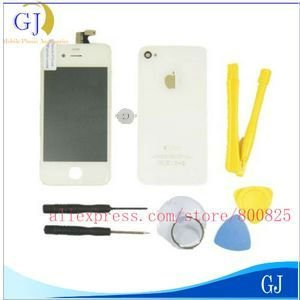 For iPhone 4 4G Cover,Free Shipping,Replacement Assembly White Complete with tools,Brand New