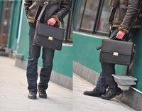 Портфель brand new men's business shoulder bag briefcase Laptop bag color:brown