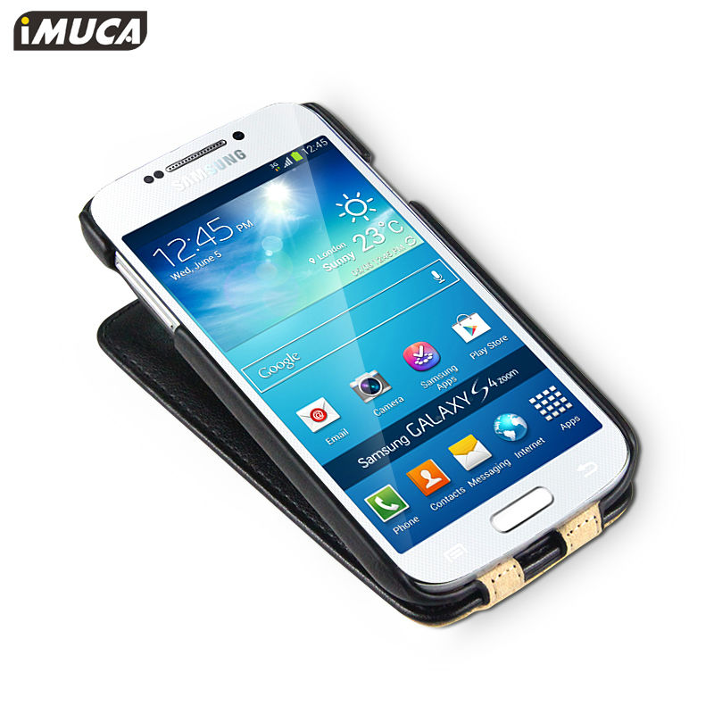 IMUCA concise leather flip case for Samsung galaxy s4 cell mobile phone flip case