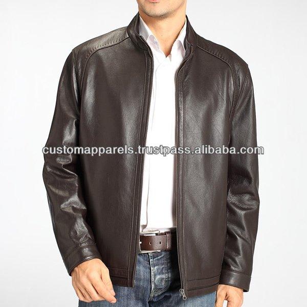 Plain Leather Jacket Mens Men's Designer Jackets Leather