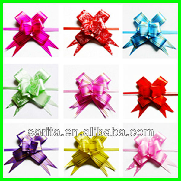 factory direct sale cheap gift wrap pull bows