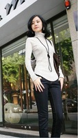 Женский пуловер 2011 new winter hot selling women's slim highneck underwear bottoming shirt long sleeve plus size sweater, 7 colors