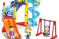 Self loading slide Park, amusement park, a slide assembly, toys,building blocks