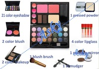 Danni Warm Color Eyeshadow Makeup Palette Cosmetic Blush + Loose Powder + Eyeshadow + Lipgloss + Brow Powder + Brush 6pcs