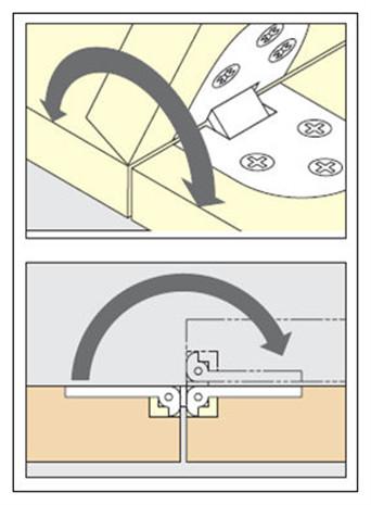Bisagra mesa abatible interesting voladizo abstracta - Como instalar una bisagra de 180 grados ...