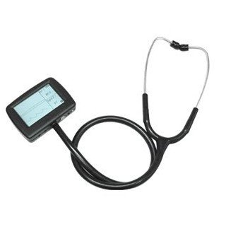 Fast  shipping Visual  Multi function ECG stethoscope + Free Spo2 probe