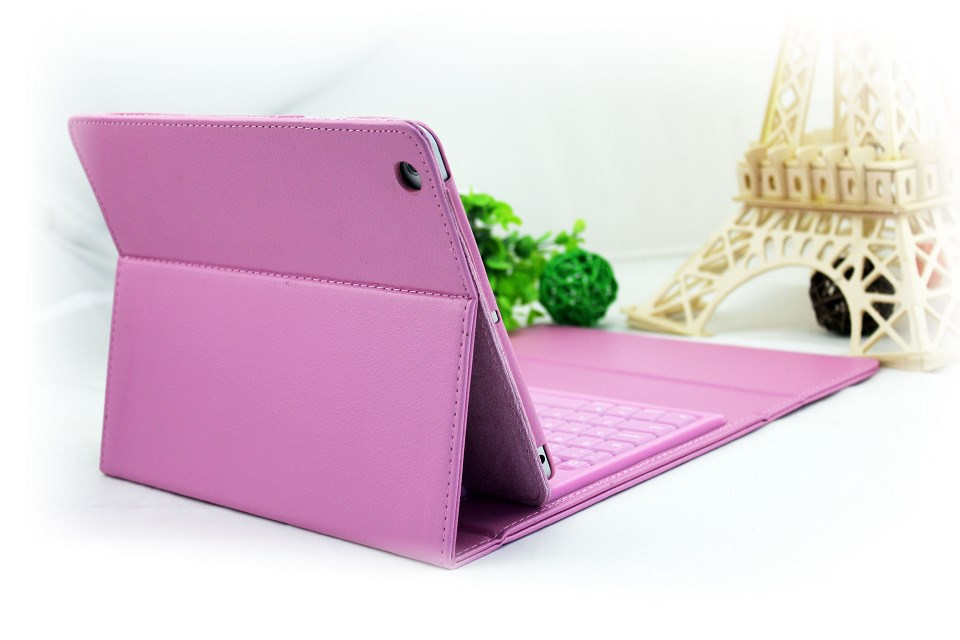 For iPad air Ultrathin Bluetooth Keyboard With Detachable Leather Case bluetooth keyboard for iPad 5