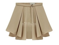 Женская юбка Vintage & Classic High Waist Skirt Pleated Skirt Beige & Black Color Match with any items Fashion Skirt