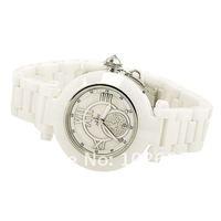 smays марки a1087 movt кварцевые циферблат белый керамические ремешок моды наручные часы для женщин