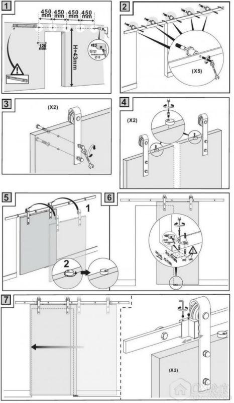 Sliding Barn Door Hardware Sliding Door Fittings 6ft Flat Track Model