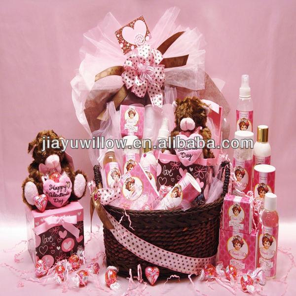Handmade com amor cestas do presente do bebê ecofriendly