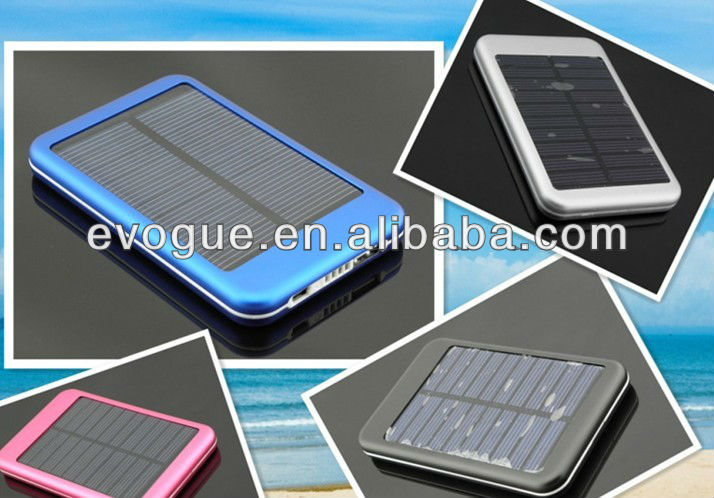 5000 mah Solar Power Battery Bank for Mobile Devices