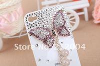Чехол для для мобильных телефонов Tassel Butterfly Mobile phone Cover with crystal for iphone 4&4S