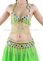 Apple Green professional belly dance dancing costumes set outfit