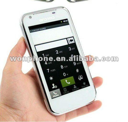 MTK6573,1800Mhz G21 Good Quality Phones Call 4inch Dual SIM Card Smart Phone