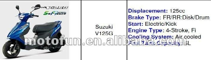 SUZUKI NEW SCOOTER MOTORCYCLE BKE 125 cc V125G GSR125 NEX125