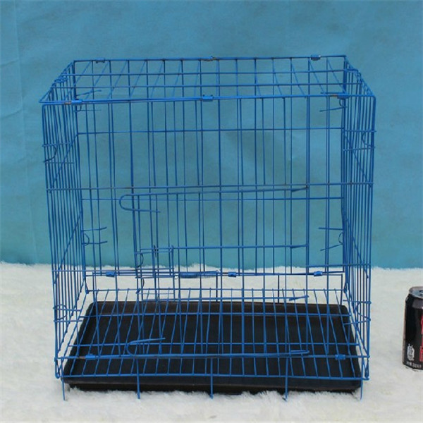 Metal Folding Dog cage, Foldable Dog Crate, 2 Doors Easy to Carry