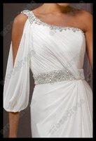 Свадебное платье A-line One Shoulder Elegant Beads Wedding Dress MD-B031