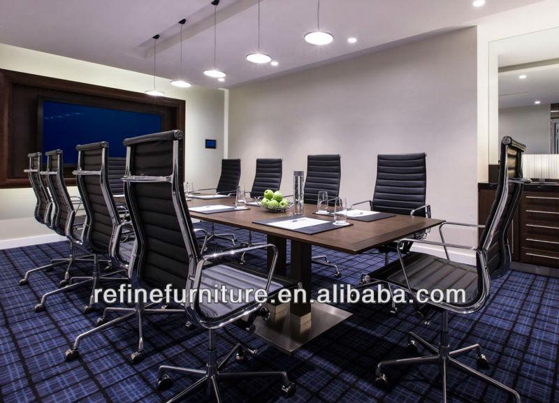 Luxury High Back Aluminum Black Leather Executive