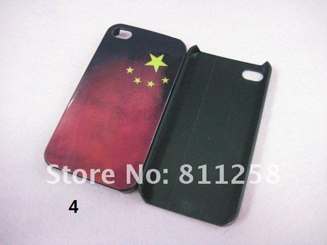 Retro flag case for iphone 4 4S, , New design mobile phone case+Free Shipping