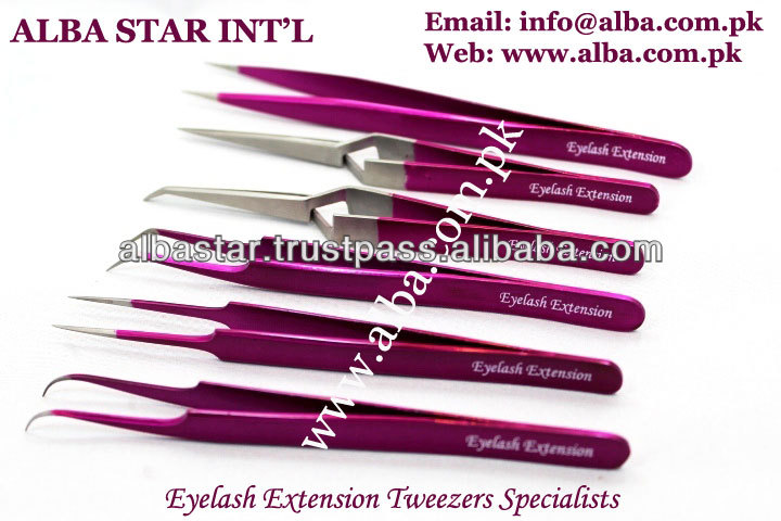 2014 Hot Selling Eyelash Extension Tweezers/ Fine Pointed Eyelash Extension Tweezers/ Stainless Steel Eyelash Extension Tweezers