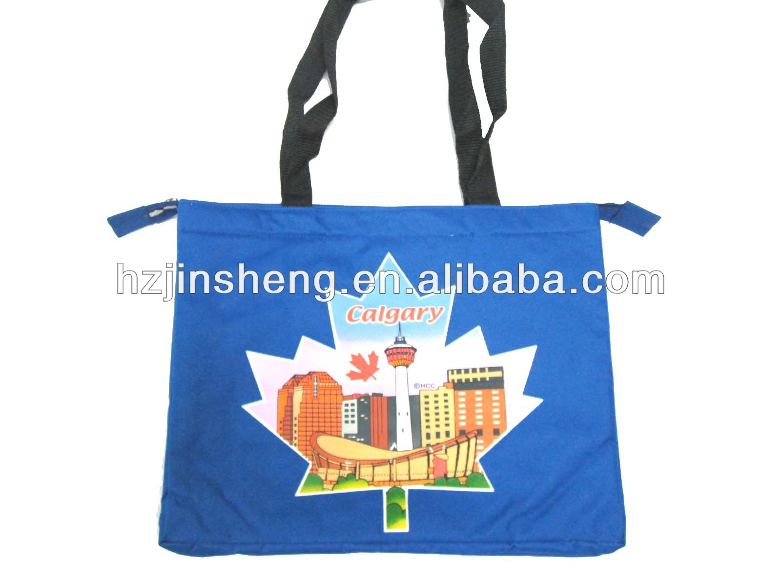 Blue durable leisure picnic tote cooler bag for promotion