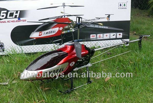 Big RC Metal Helicopter 134CM 3CH RC Outdoor Helicopter with Gyro and Light, QS8006-2 RC Helicopter