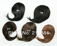 Накладная челка 2Clips Synthetic Fringe Hair Extension Pieces Color Black Blonde Brown Clip In On Bnags Fringe 1Pcs