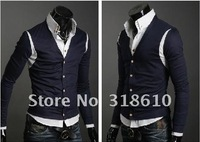 Мужской кардиган Men's Sweater Cardigans Knitwear V-neck Slim Casual Sweater Y04