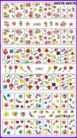 FREE SHIPPING 10 PCS/LOT NAIL ART NAIL TATTOOS STICKER W SERIAL 3 PATTERN IN 1 MEDIUM WATER DECAL  NAIL DRESSING