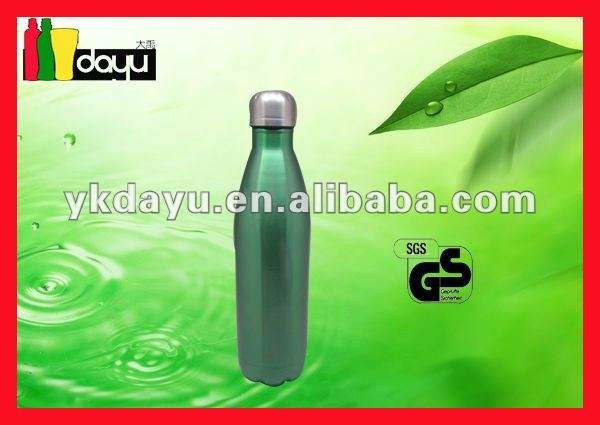 Stainless steel bottle with coke