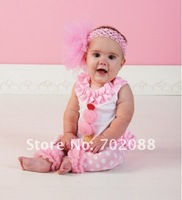 Комплект одежды для девочек Hot sale 3sets new 2012 Blouse+Trousers Cute ice cream sets baby sets Tank+pants Baby Clothing vest+Dot pants