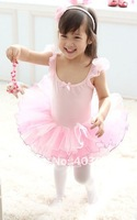 Hot sales pink Girl's ballet skirt,3y-8years kid dress,kid's TUTU skort 4 pcs wholesale&Free freight