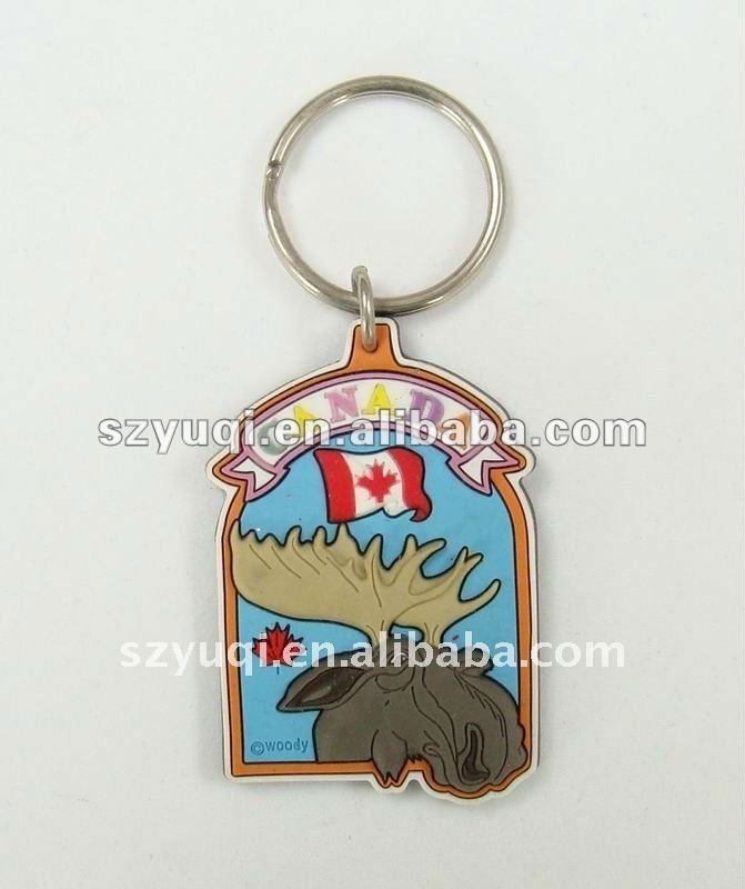 Fashion cartoon key rings fobs