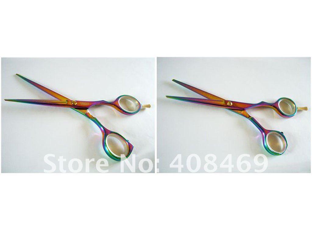 440c s 55 regelmäßige regenbogen bunt plattieren haar schere