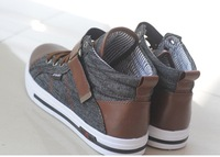 Мужские кроссовки Men's jeans recreational canvas high help shoes