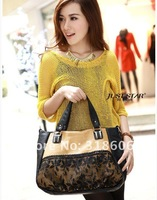 Маленькая сумочка Lace + pearl tablets Collision color Large Tote Fashion handbags, womens bag