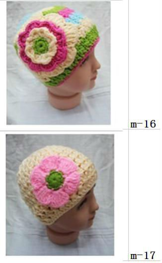 wholesale price! 100% cotton handmade crochet flower hat for baby & toddler & child