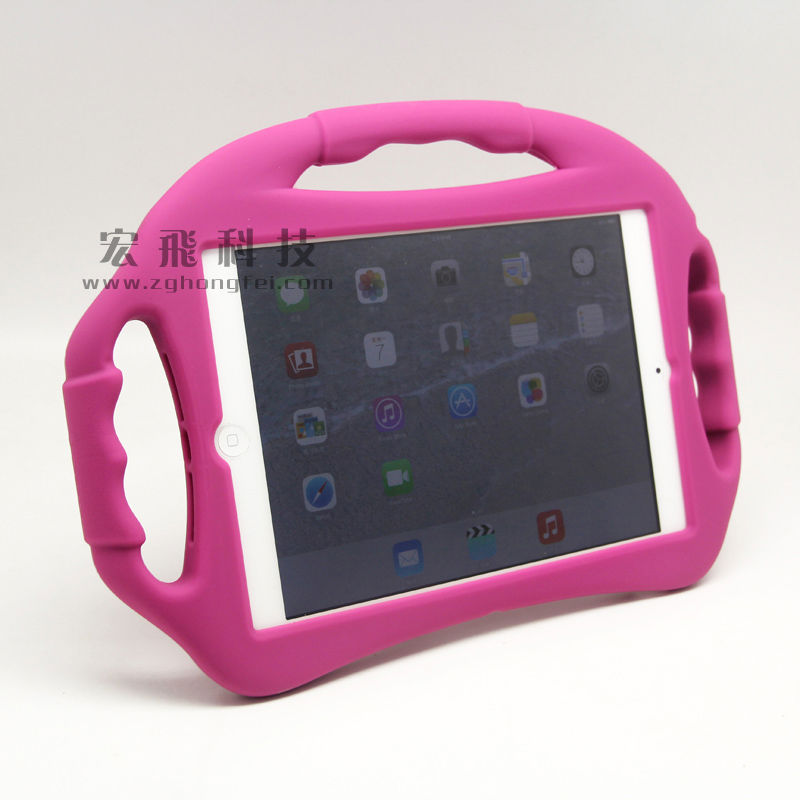 Convenient design waterproof cute soft silicon shockproof case for ipad mini