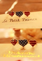 Кольцо 2012New USA National Flag Heart Double Ring PK-007
